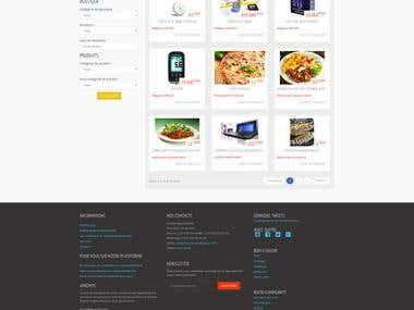 espace de vente en ligne, rassemblant des boutiques mondiale