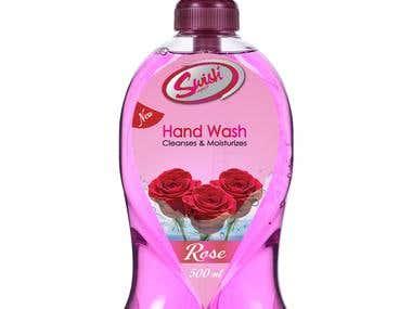 Label design hand wash