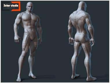 Character Modeling (Body Builder Man)