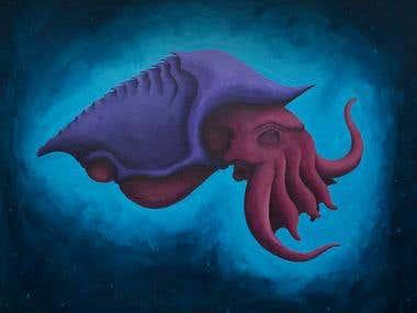 Space Kraken Illustration
