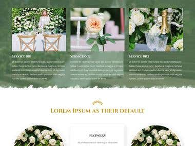 Wedding web page