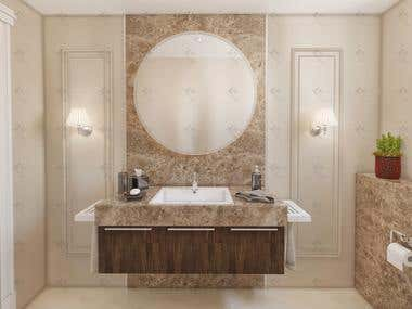 Bathrooms Interior Design and Visualization