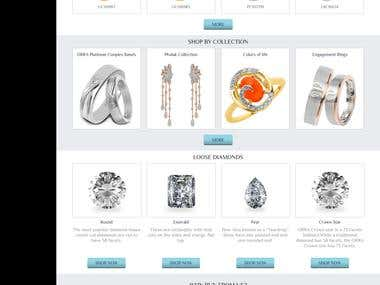 Jewellery e-commerce website