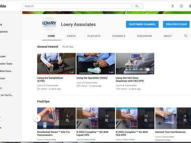 Make YouTube Account with List of Videos + Playlists