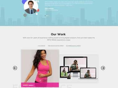 PRTS Media. Web UI Design