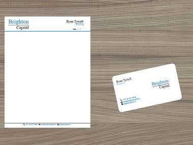business cards and a headed letter template