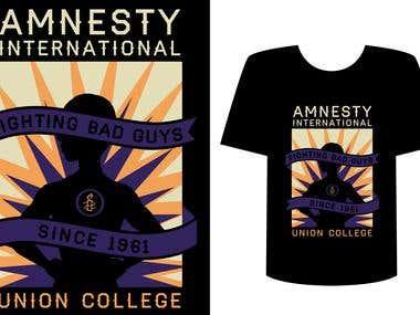 Amnesty International T-shirt Design