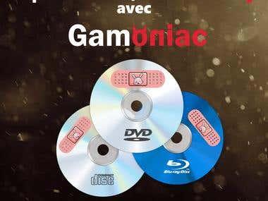 Visuel pour post Facebook Gamoniac (réparation de CD)