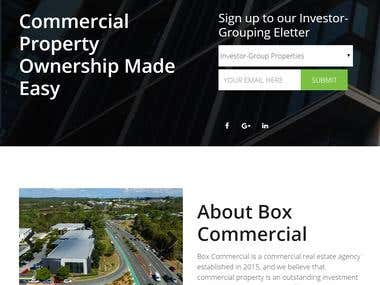 Box Commercial Real Estate Agent Website