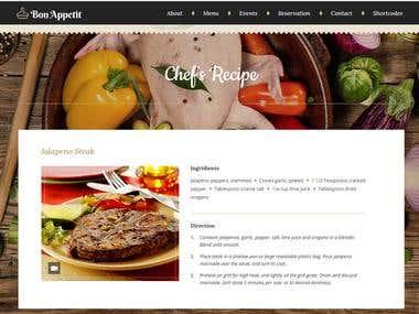 Wordpress-Parallex Site