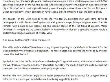 Who is winning between Android and iOS? Google versus Apple.