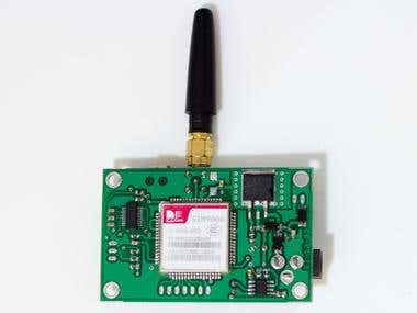 Sim900 GSM Modem with Dual interface