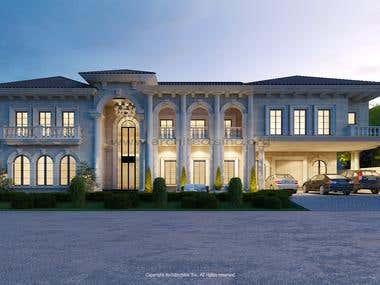 Mediterranean Style villa design