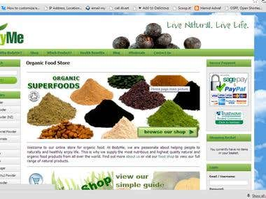 Onsite Offsite SEO of Organic Food Store in UK