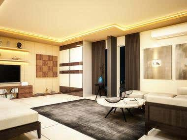 3D bedroom, 3d living room and 3d dining room designs