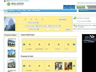 Property Website with complete feature