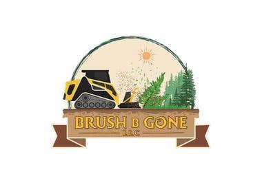 """""""Brush b Gone"""" logo"""
