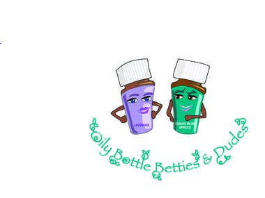 Logo Design for Oily Bottles Bettie &Dudes.