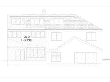 CAD PLANS FOR A HOUSE IN LONDON