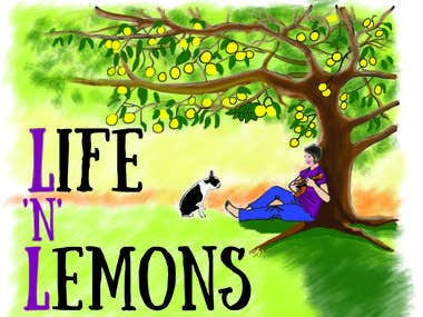 Logo design - Life 'N' Lemons blog