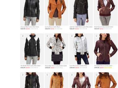 Online jacket shop (Laravel)