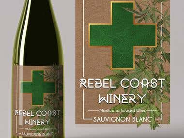 Laber design for a Marijuana infused wine