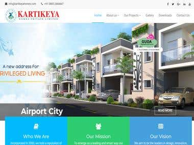 Kartikeya Homes Website