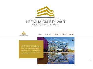 Logo & Web design for Lee & Micklethwait lmbuild.co.uk