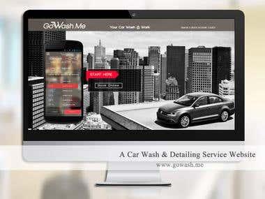 Online Car Wash Ordering Website