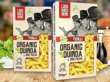 Packaging design for South American fusilli