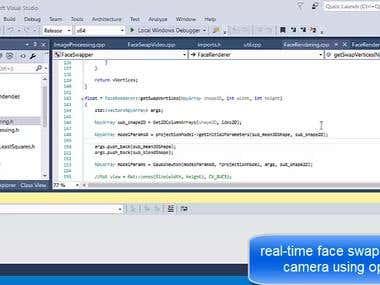 Realtime face swap application