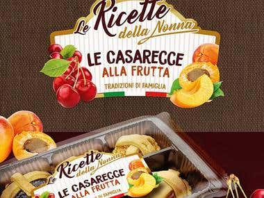 Label design for Italian cookies