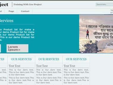 PSD to HTML Web Design