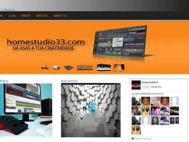 Drupal based Homestudio Website.