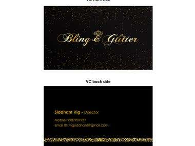 Bling & Glitter Visiting card