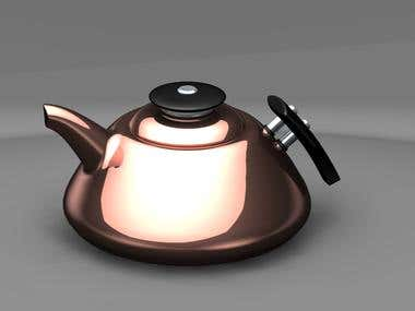 3D Rendering of tea pot