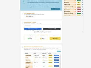 Keyword study and back link checking