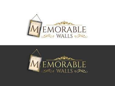 """Memorable Walls"" logo"