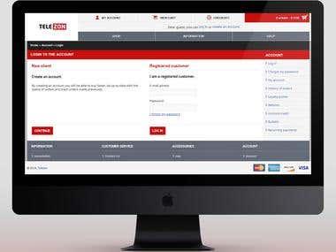 Telezon - Full Website Development