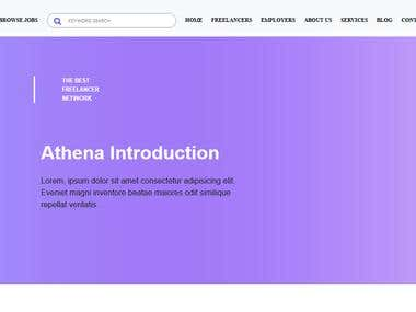 Athena Front End Develop