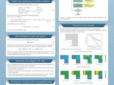 Academic poster created in LaTeX
