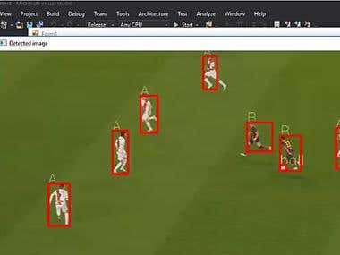 soccer player and ball detection.