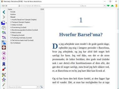 Danish ebook in epub format