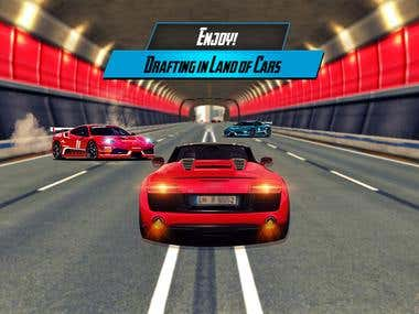 Car racing game Playstore graphics