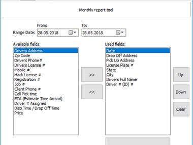 Database Report Generator