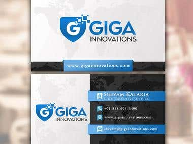 IT Company Business Card Design