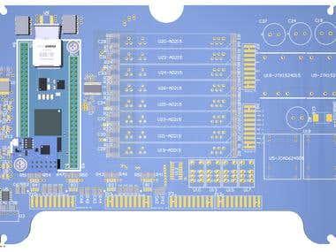 PCB design 4 layers with Altium designer