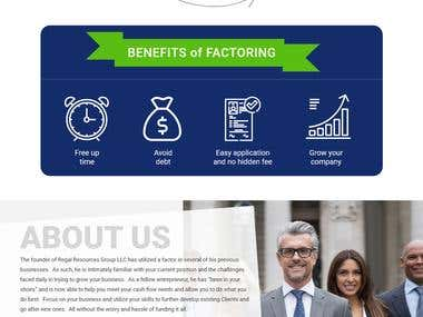Website Mockup (Factoring Business)