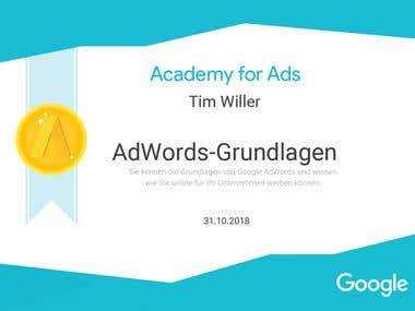 Academy for Ads - AdWords Grundlagen