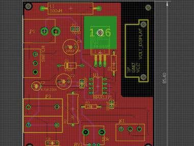 Eagle PCB for DC-DC boost